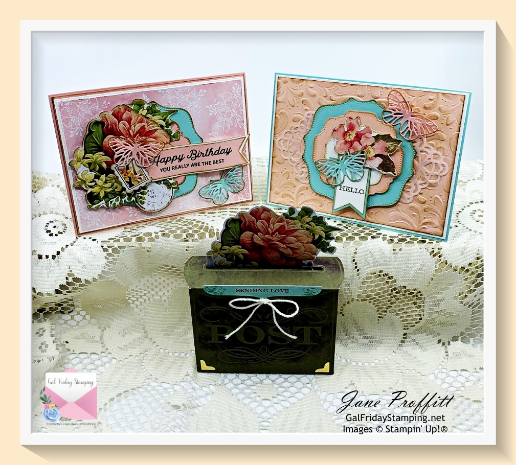 Here are my alternate projects using the Precious Parcels card kit that is being released on June 1st