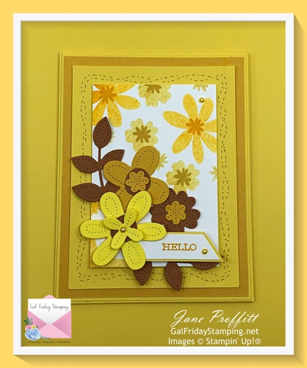 Beautiful and bright sunshine on a rainy day with the In Bloom stamp set and Pierced In Bloom dies.