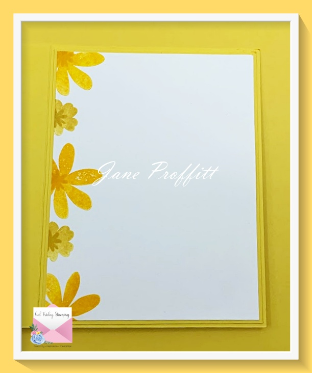 Don't forget the inside of your sunshine on a rainy day card.