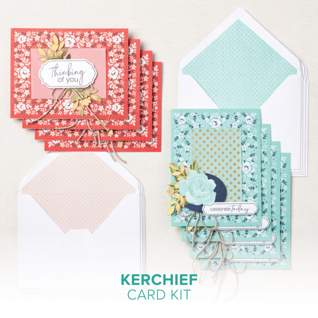 Kerchief Card Kit collections at Stampin' Up!  These kits are available while supplies last.