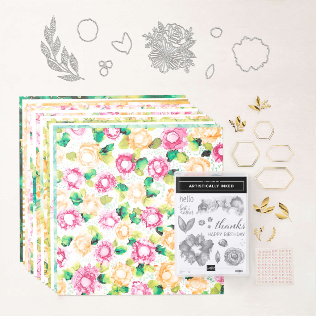 The Expressions in Ink Suite collection that includes the Stampin' Up! Artistically Inked stamp set.