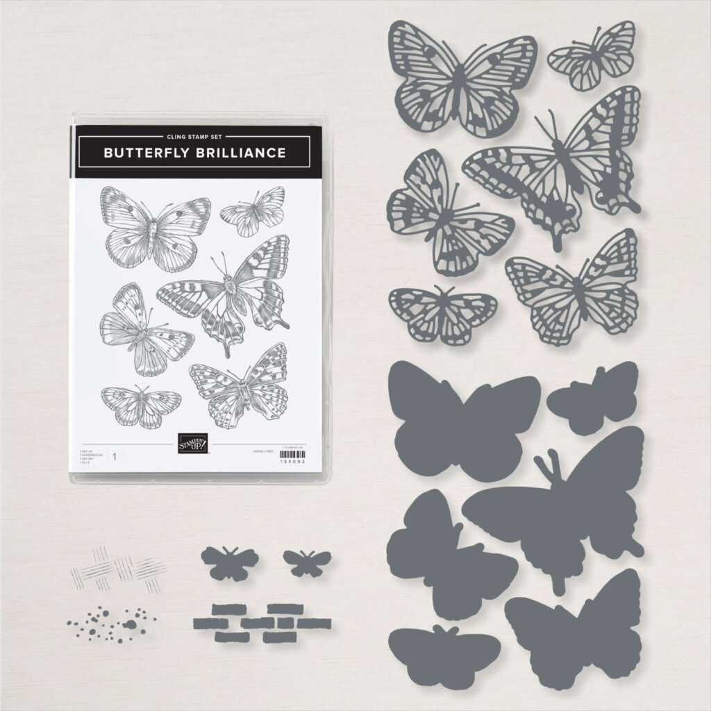 Butterfly Brilliance bundle used today because sometimes we just need a quick and easy card.