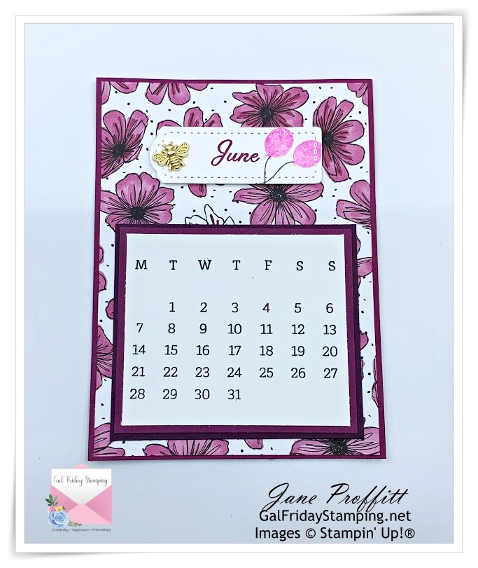 Calendar for June that will be included in the Days to Remember kit