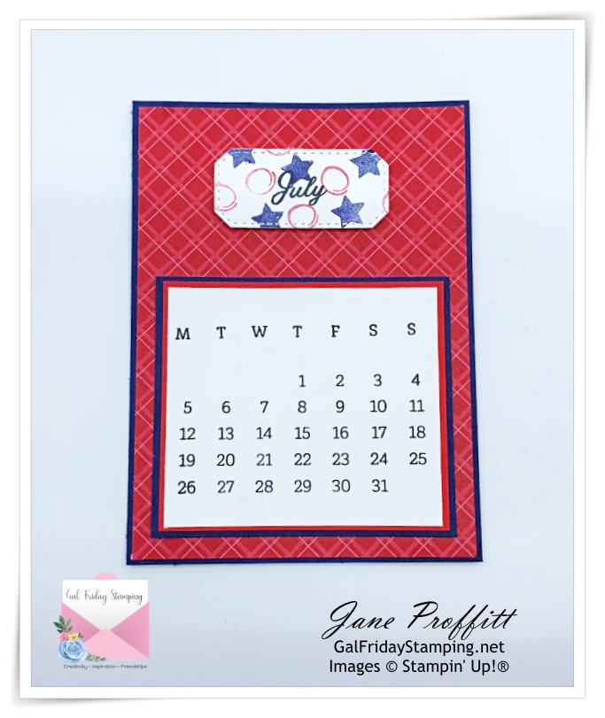The month of July for the Days to Remember craft kit