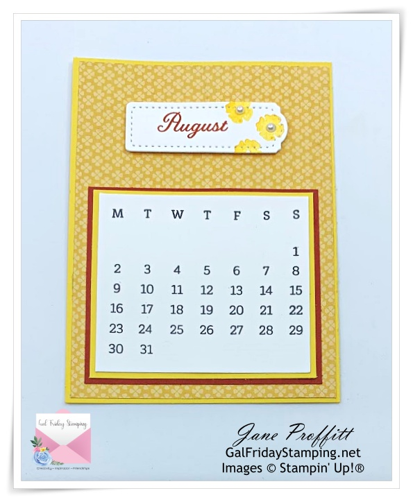 August for the Days to Remember kit being offered this week.