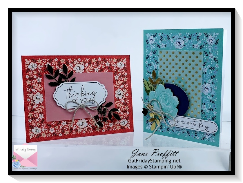 Here is the Kerchief card kit that was released in the new Card Kit Collections at Stampin' Up!
