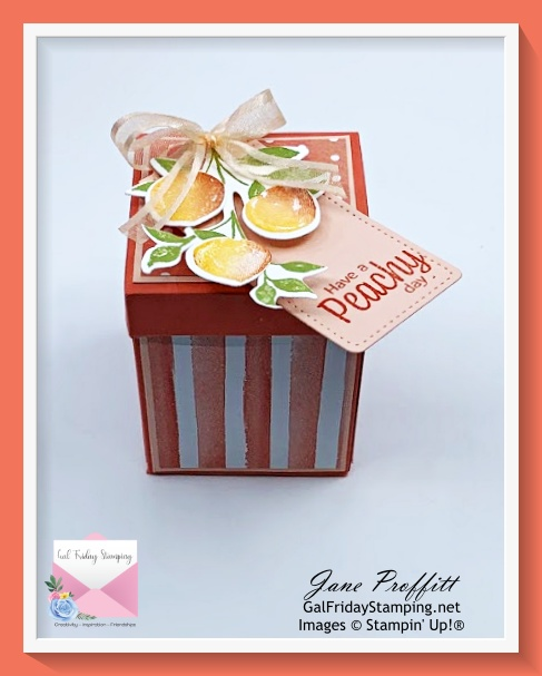 A perfect little gift box for the mini jam jars that will be created tonight during my Thursday Night Live.