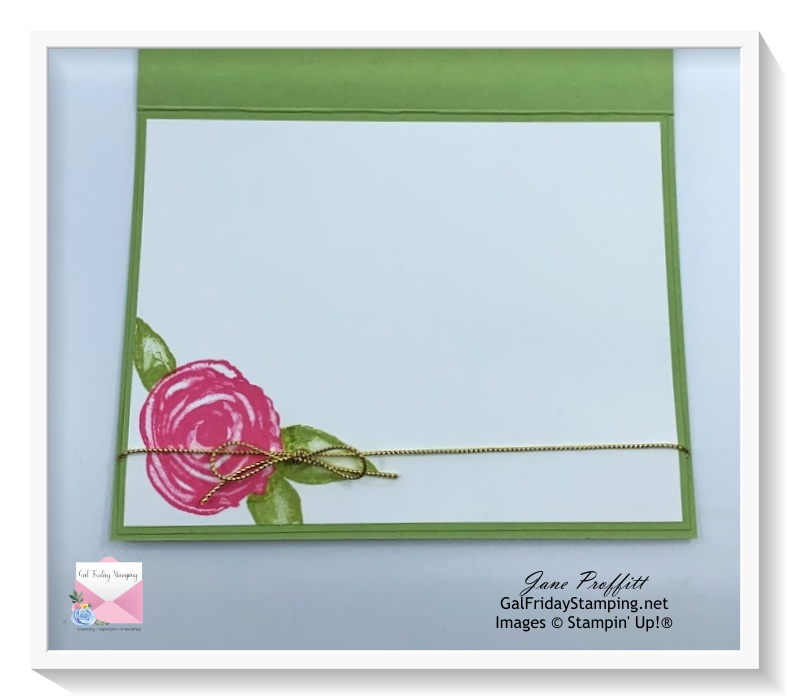 Don't forget the inside of the card by pulling some elements from the front of the card.