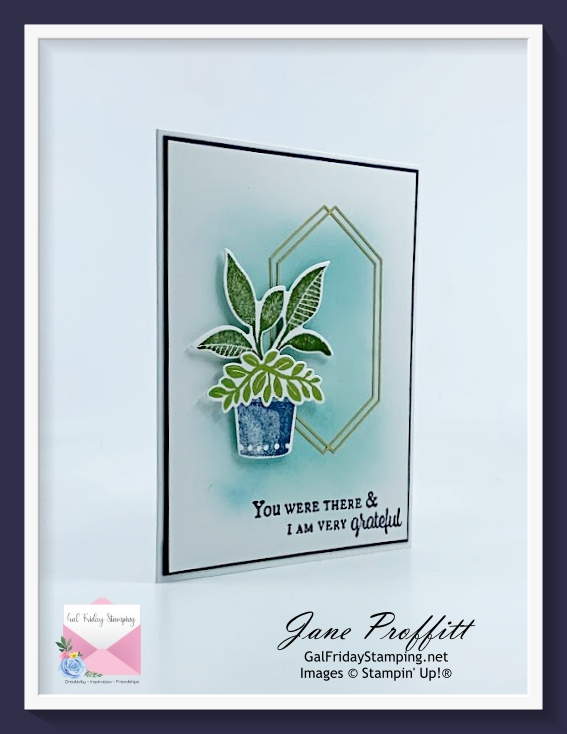"""Plentiful Plants bundle and a Clean and Simple card today to say """"thank you""""."""