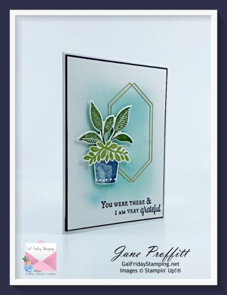 Clean and Simple Card using Plentiful Plants