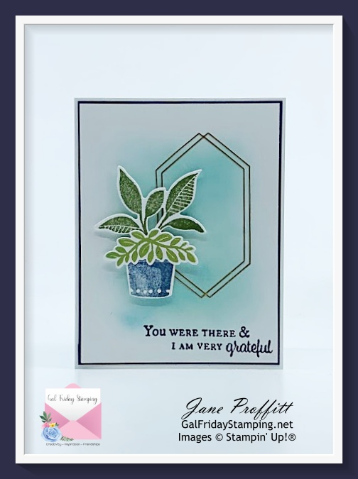 Beautiful blues and greens for today's clean and simple card.