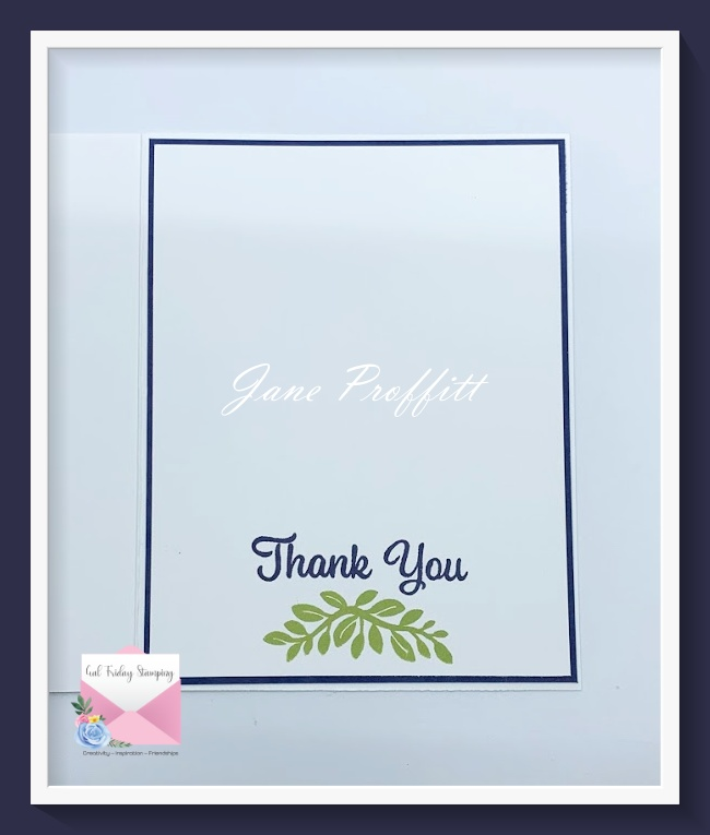 Don't forget the inside of your clean and simple card.