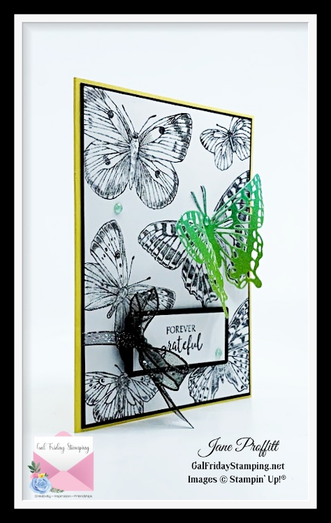 Quick and easy card created with the Butterfly Brilliance bundle from Stampin' Up!