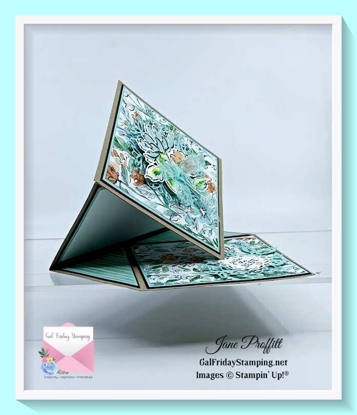 Look at how pretty this easel card is using the beautiful designer series paper.