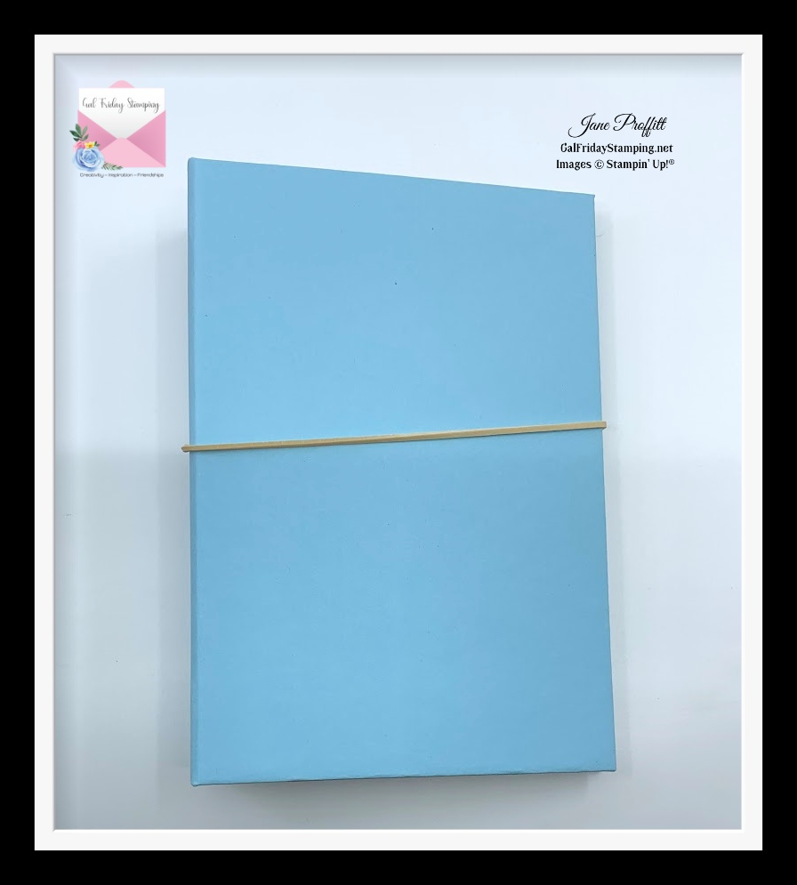 I am teaching the fibers of the paper to keep the cover closed.  This was the start of the Photo/Journal Album series.