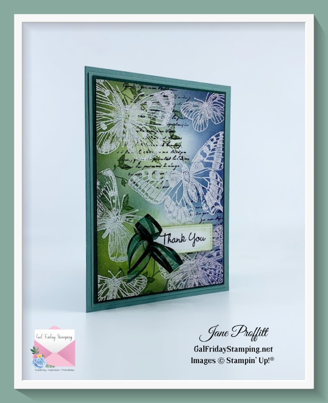 Using the embossing resist technique for today's Silver Elite blog hop
