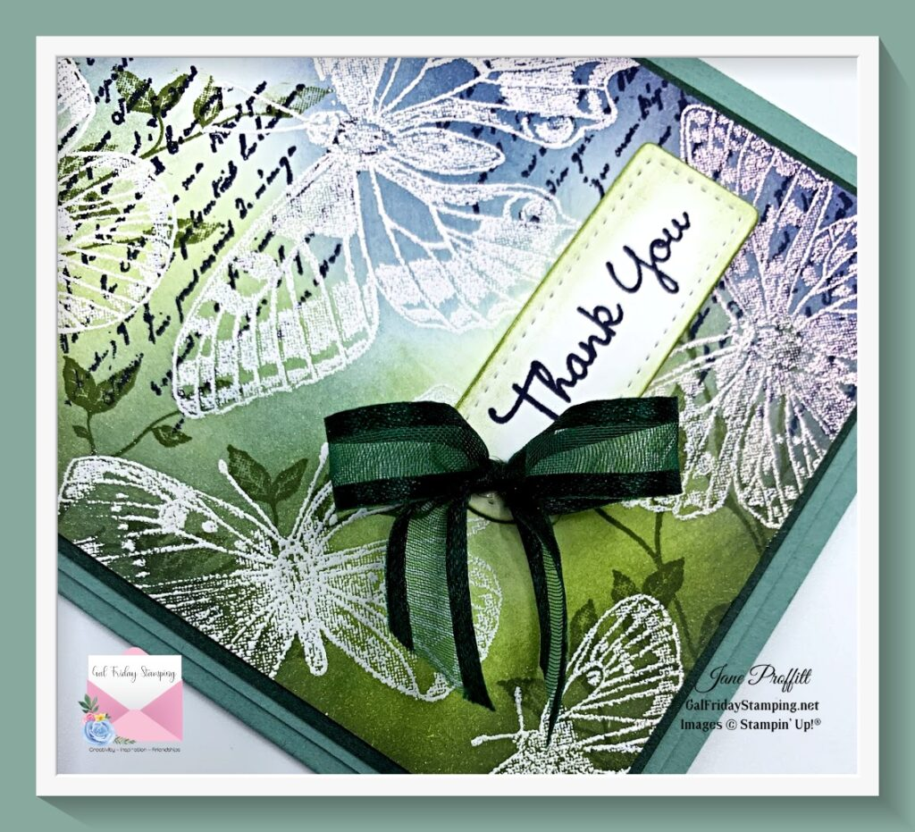 Butterfly Brilliance, Very Versailles, Soft Succulent and Tailor Made Tags for today's Silver Elite blog hop