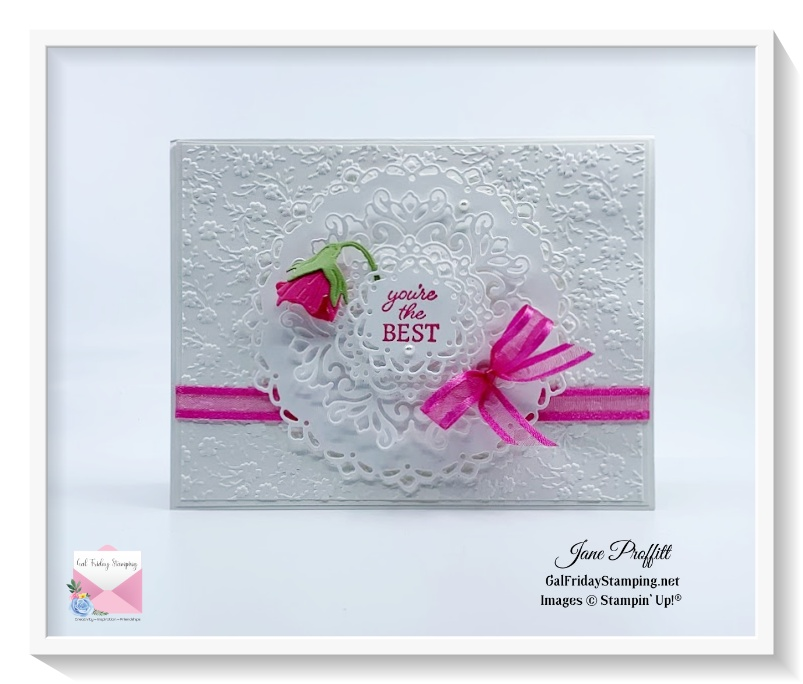 Encircled in Friendship bundle in white and polished pink to remember my circle of friends