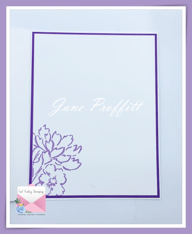 I did not forget the inside of my floral beauty card in purples.