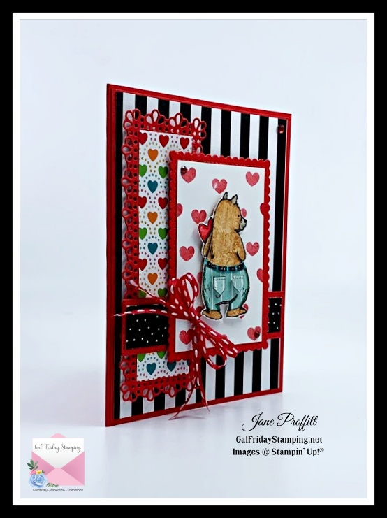 Using the bear from the Count on Me Stamp set from Stampin' Up!