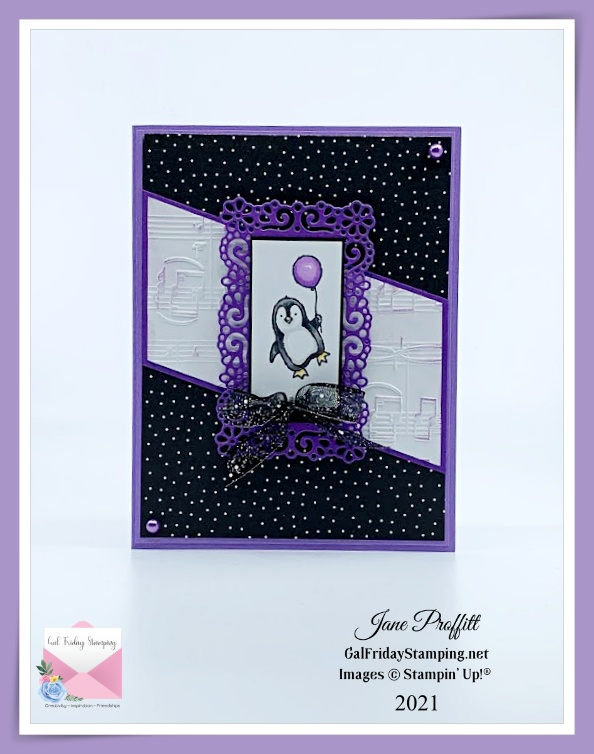 Another adorable image from the Count on Me stamp set for a sweet Happy Birthday card.