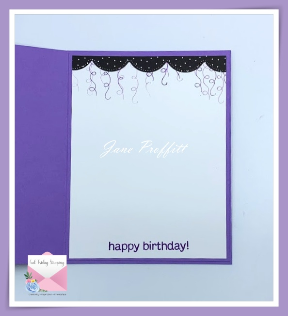 Don't forget the inside of the card.