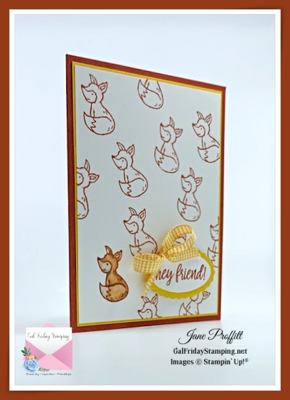 Let's be a little foxy using the Count on Me stamp set from Stampin' Up!