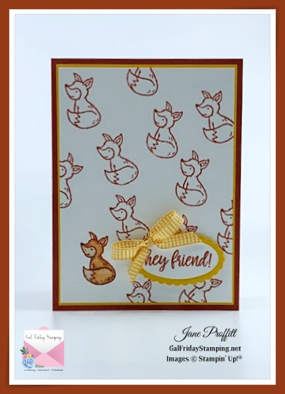 I decided to focus color on just one little fox on today's let's be a little foxy using the Count on Me stamp set.