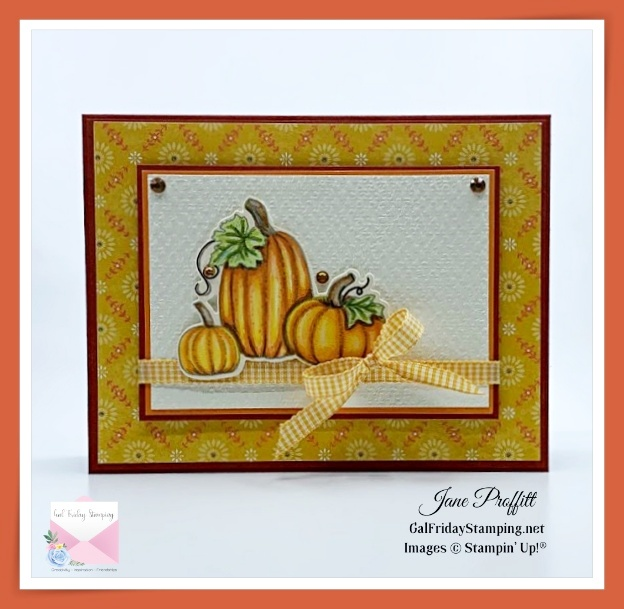 Such a beautiful Pretty Pumpkin stamp set that will be released Aug. 3rd, 2021 with the new Mini Catalog.