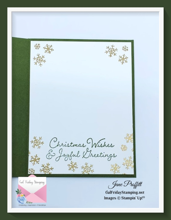 Don't forget the inside of your delivering packages in a winter wonderland or any card you create.
