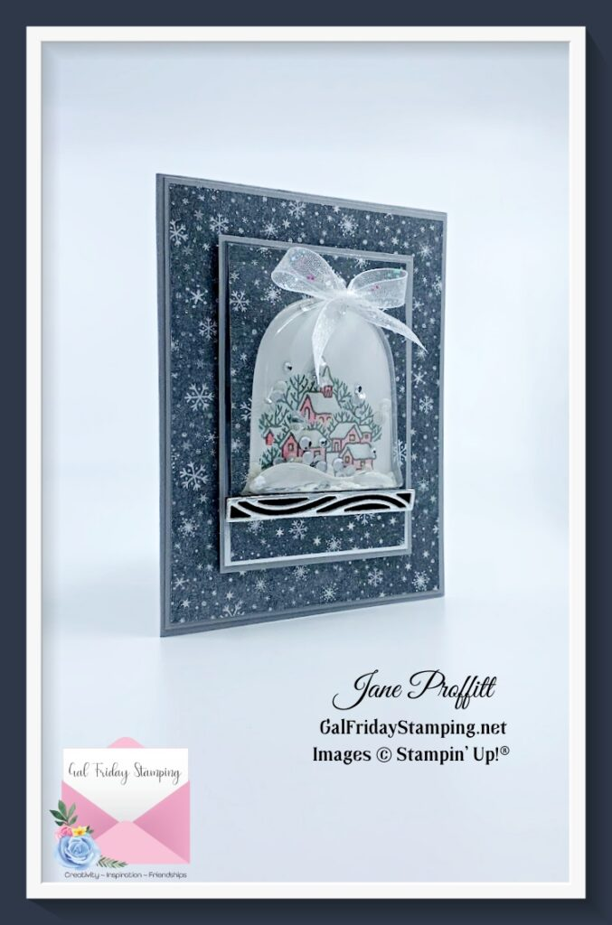 Pretty Christmas in July live card using a bundle called Classic Cloche.