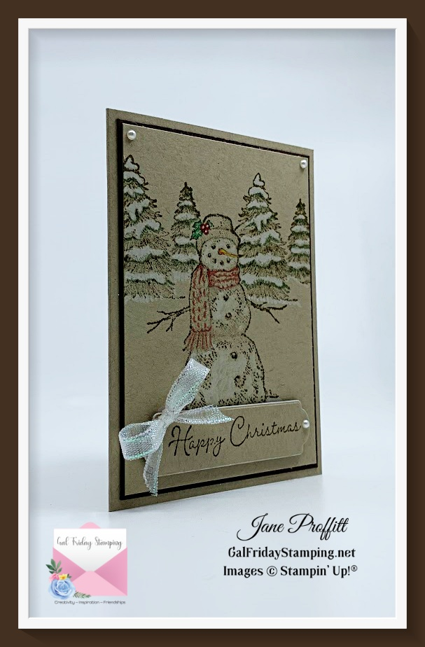 A Returning Favorite ~ Snow Wonder.  Adding a bit of color to crumb cake card stock.