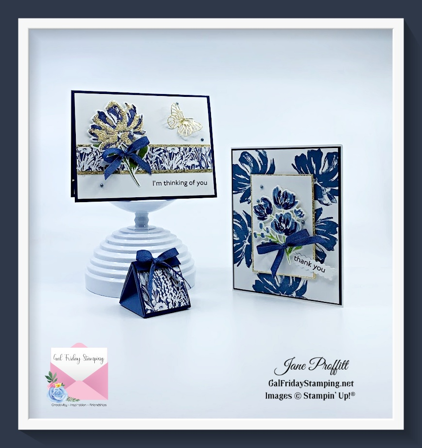 Art Gallery Stamp set and an alternative to gold foil.