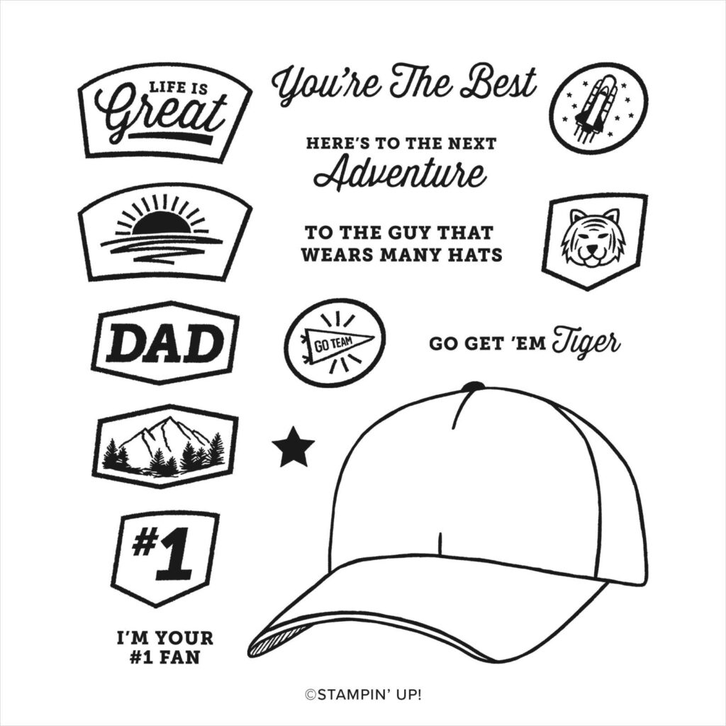 Stamp of the Month Club ~ September is the Hats Off stamp set.
