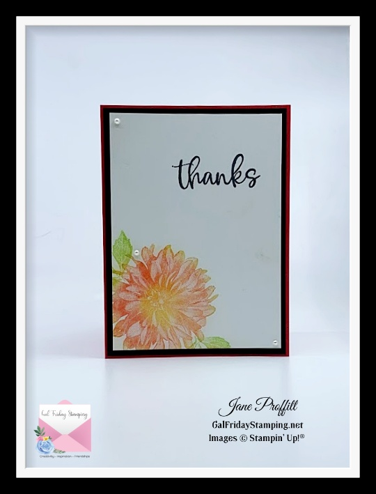 """Create amazing """"thank you"""" cards with this beautiful stamp set with the 2021 Mini Catalog Release"""