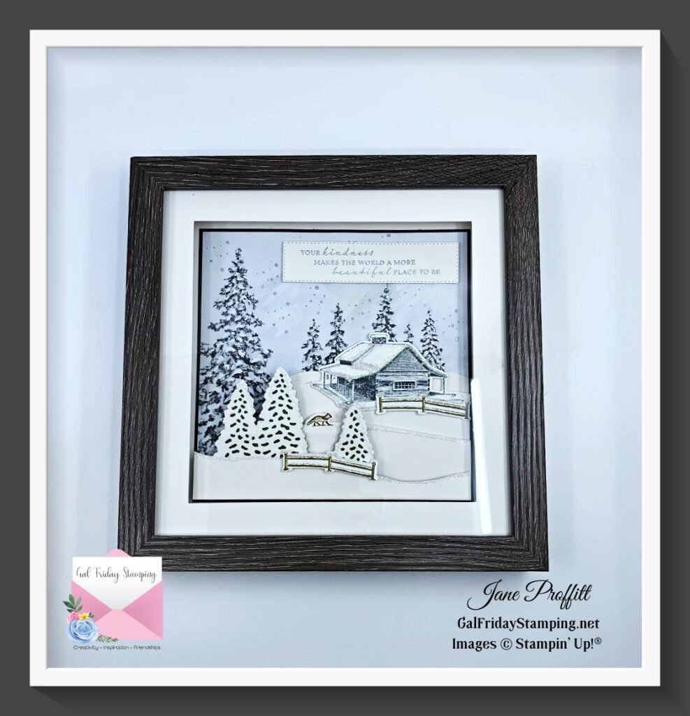A beautiful 8 x 8 shadow box is the feature of my Home Décor August Craft box.