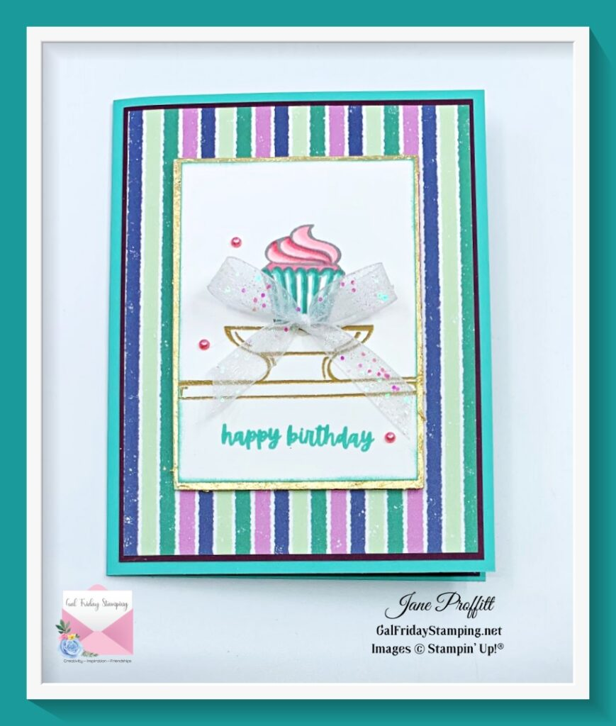 Portrait style card using Sweets & Treats during another Thursday Night Live