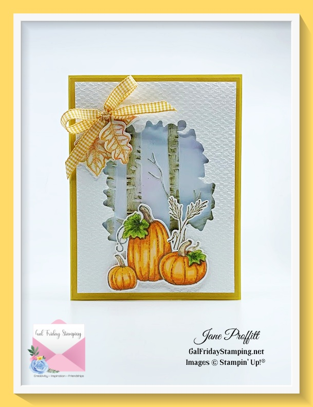The Pretty Pumpkins bundle is the stamp set used as my newsletter Free PDF this week.
