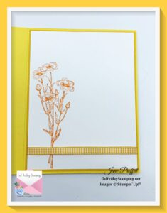 Do not forget the inside of your Quiet Meadow at Sunset card.  The inside is just as important as the outside.