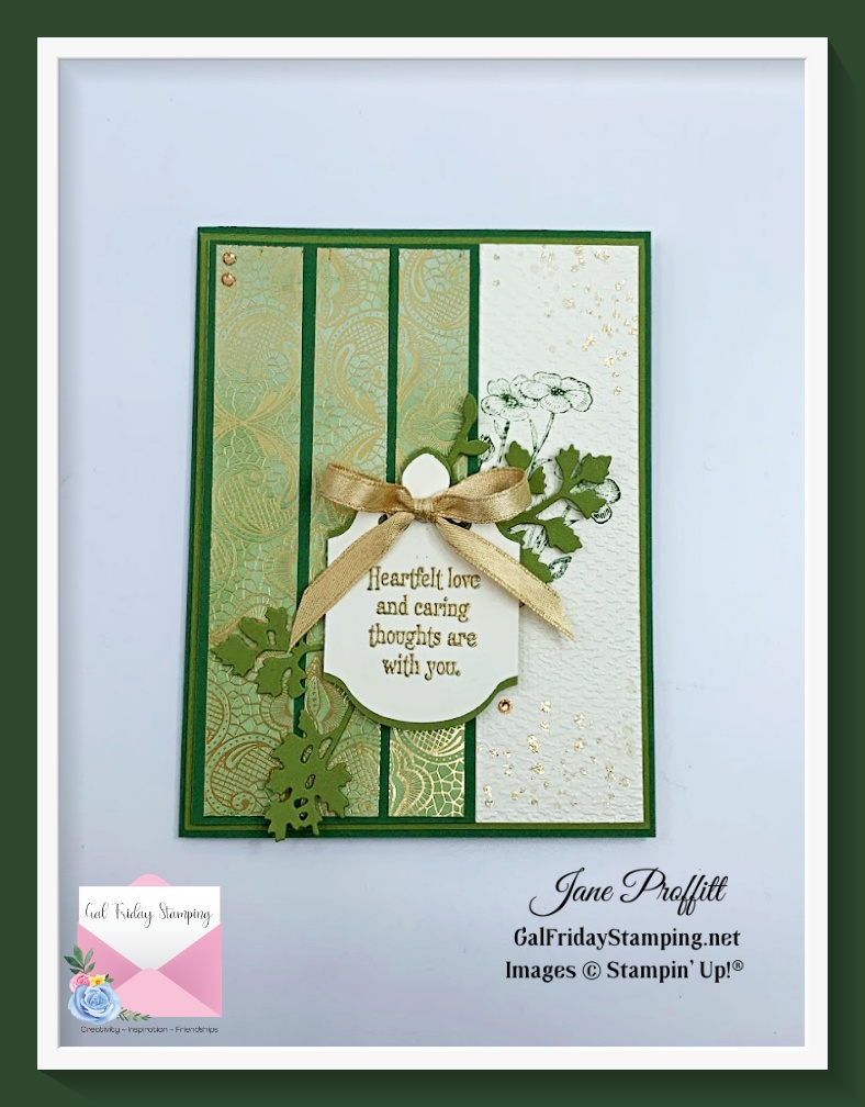 Stepped up Sunday with the same products from Simple Saturday to create a more elegant card.