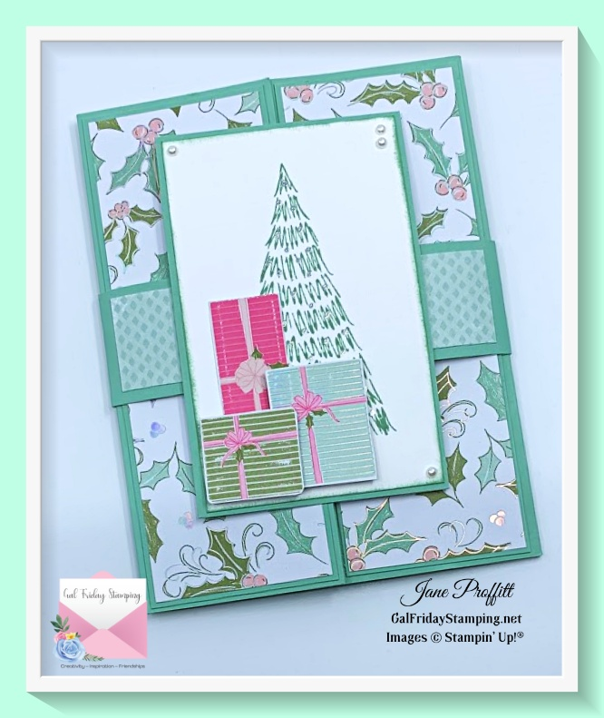 Get the gatefold explosion card pdf on this weeks Gal Friday Stamping newsletter.
