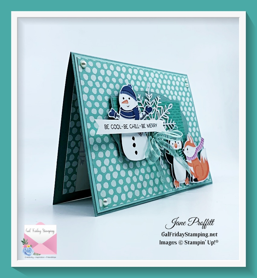 Penguin Playmates dsp focus card today is quick and easy for the seasoned card maker and beginner card maker.