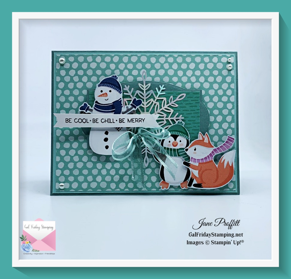 Penguin Playmates dsp focus uses the images from one of the sides of this adorable designer series paper.