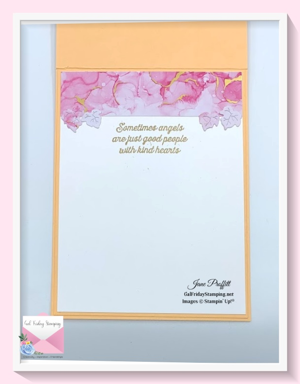 I did not forget the inside of my Angels of Peace live card.