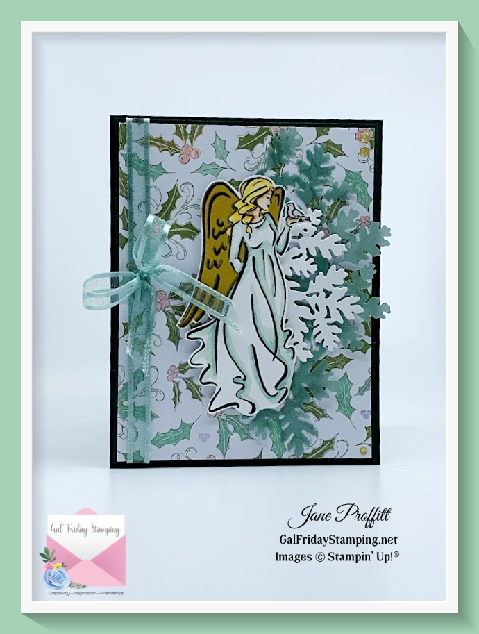 Angels of Peace Monday was coloring with Stampin' Blends and paper pieced.
