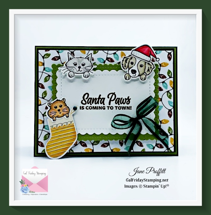 Festive and adorable card using the Sweet Little Stockings bundle.