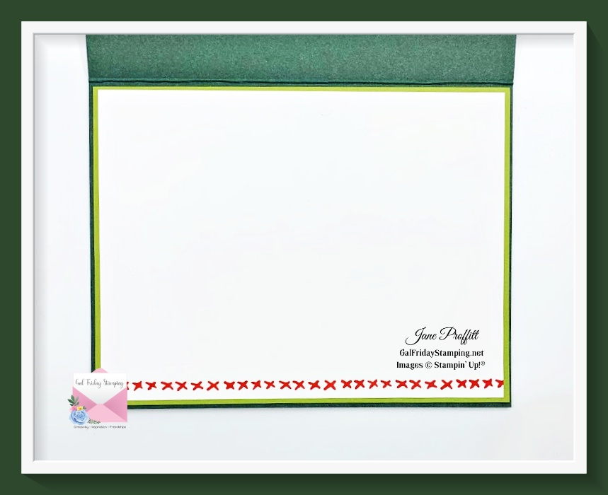 I did not forget the inside of today's Sweet Little Stockings bundle card.