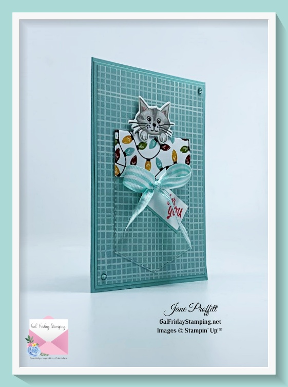 Easy gift card holder using the Sweet Stockings bundle.