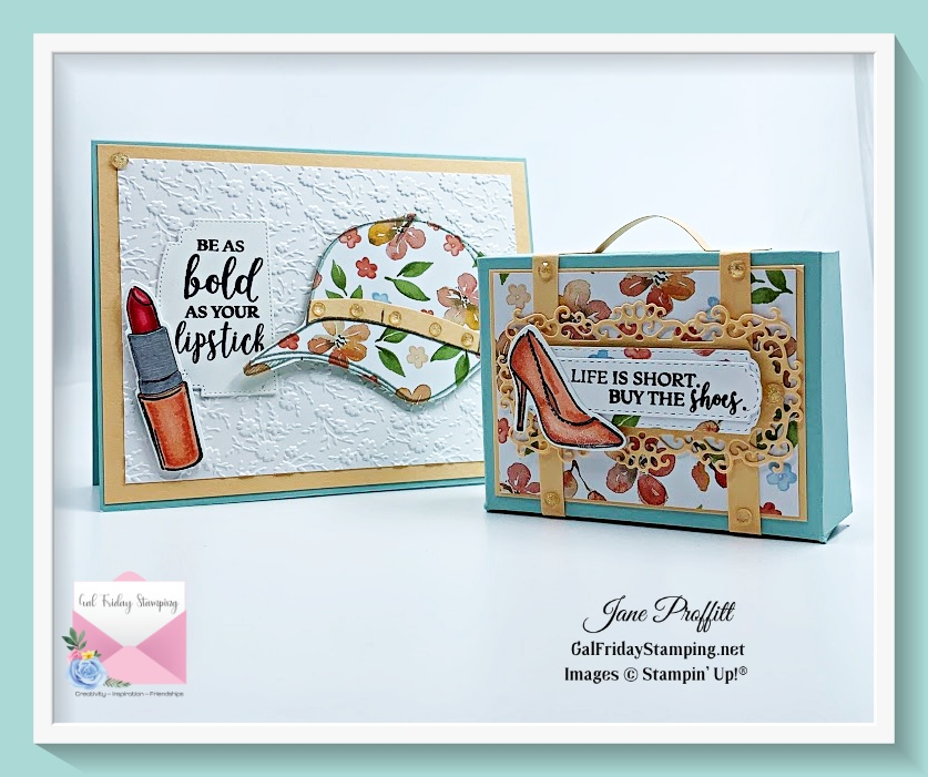 Buy the Hats Off stamp set from my online store and receive the make & takes plus PDF for creating these 2 projects.