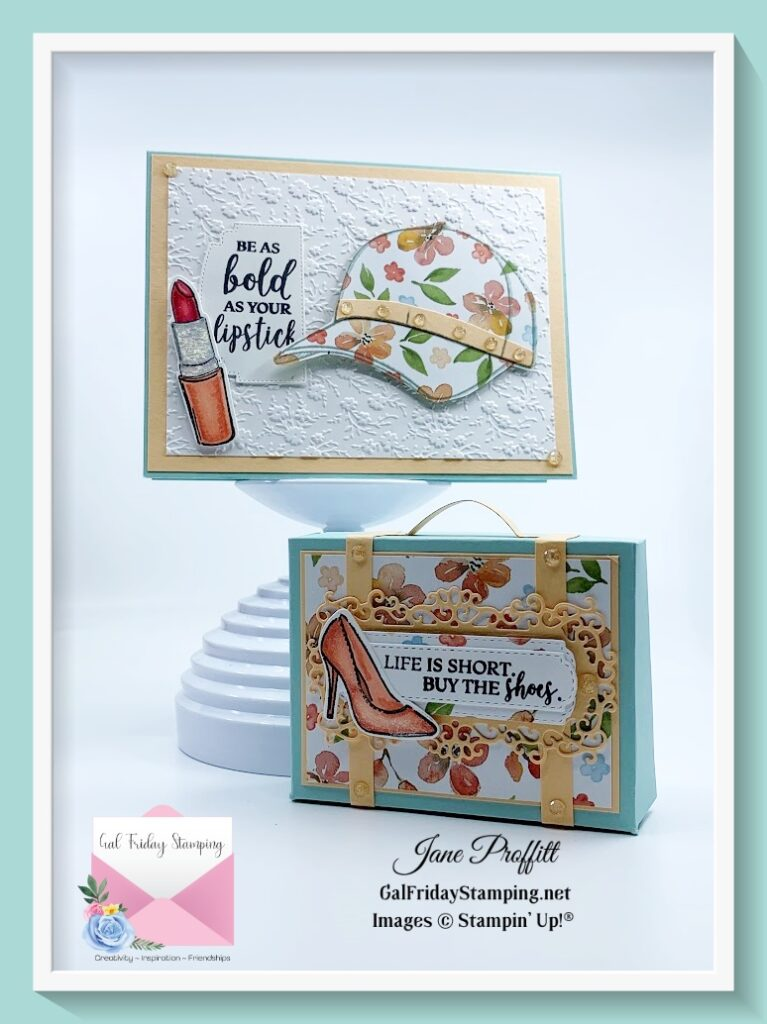 Here are the two projects that you can get make & takes and a free pdf just for purchasing the stamp set.